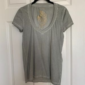 Organic Cotton V-neck T-shirt - Size XS